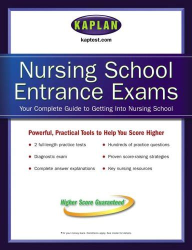 Nursing School Entrance Pdf - kaplan nursing school entrance exams pdf ebook