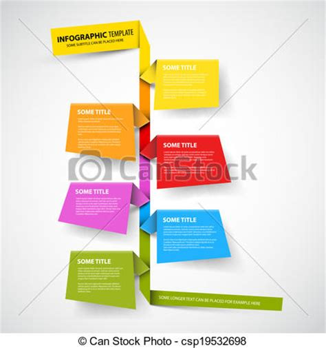 Eps Vectors Of Infographic Timeline Report Template Made From Colorful Csp19532698 Search Drawing Infographic Template