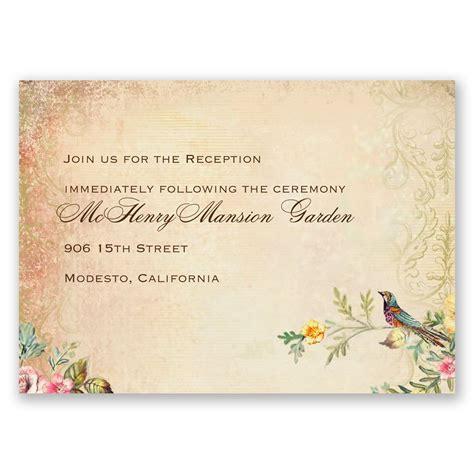 Hochzeitsfeier Einladung by Vintage Birds Reception Card Invitations By