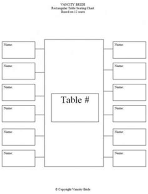 dinner seating plan template circular table chart for 10 guests weddings and such