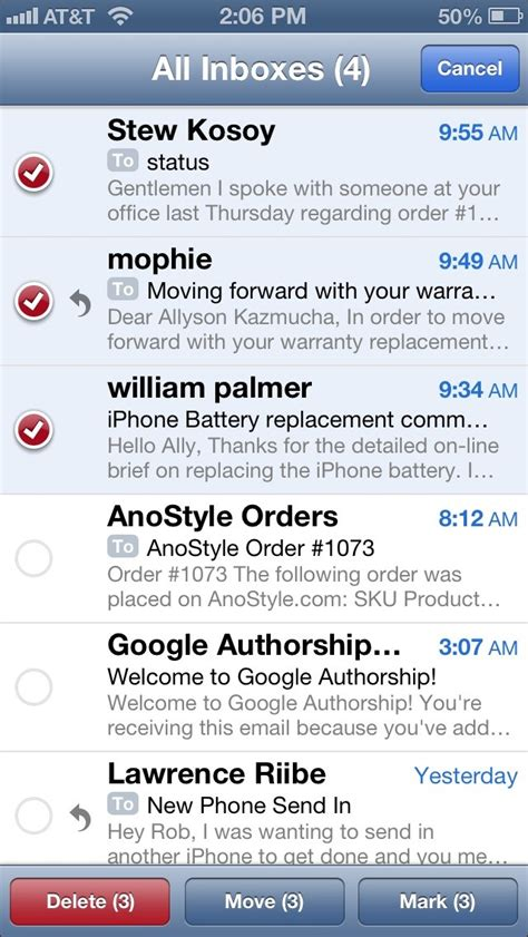 all as read iphone how to an email as read or unread on your iphone and imore