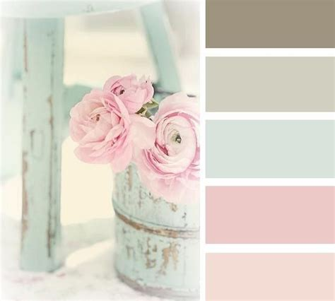 shabby chic colour schemes are normally pastel shades