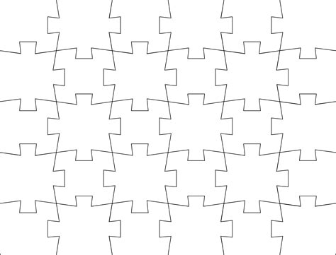 Jigsaw Puzzle Template Free Download Puzzle Template Pdf