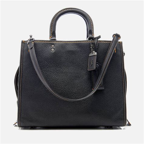 coach 1941 s glovetanned pebble leather rogue bag black free uk delivery 163 50