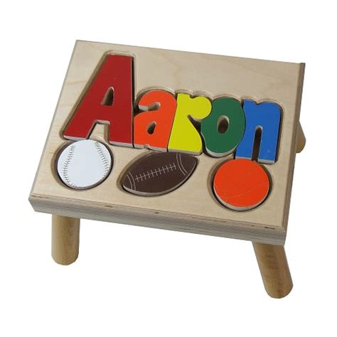Name Step Stool Free Shipping by Sports Puzzle Name Step Stool 1 8 Letters At Ababy