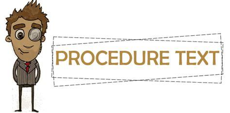 belajar bahasa inggris procedure text procedure text share all information