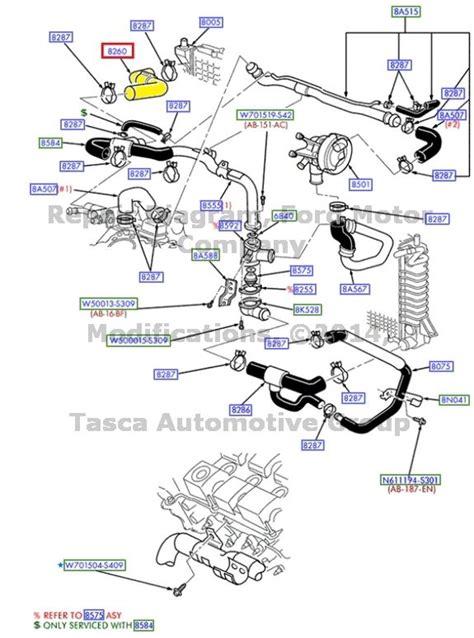 2000 ford taurus cooling system diagram brand new oem radiator hose 1996 2000 ford taurus