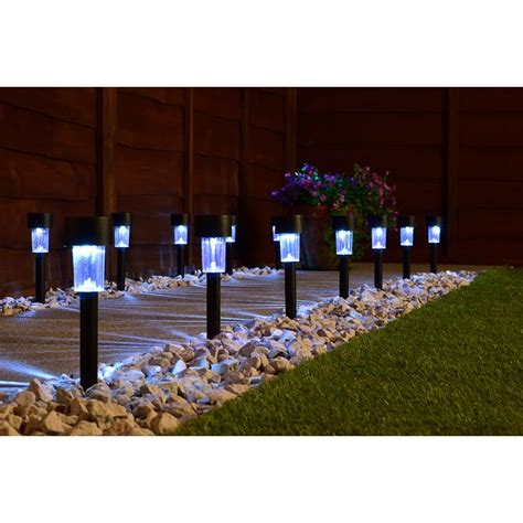 mini solar light posts pk white solar lights bm