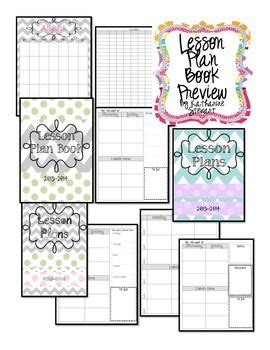 cute printable lesson plan template lesson plan book