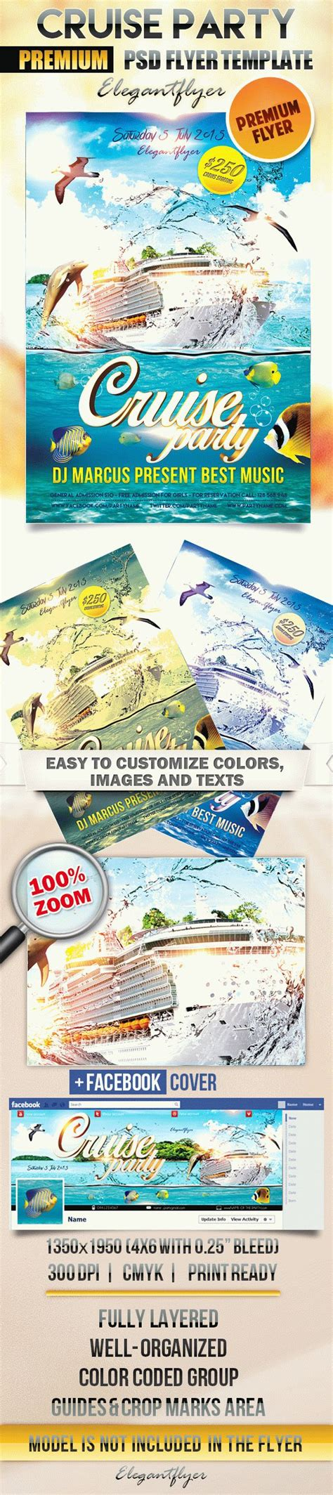 Flyer For Cruise Theme Party By Elegantflyer Free Boat Flyer Template