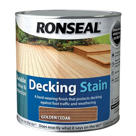 ronseal decking stain golden cedar  exterior paint