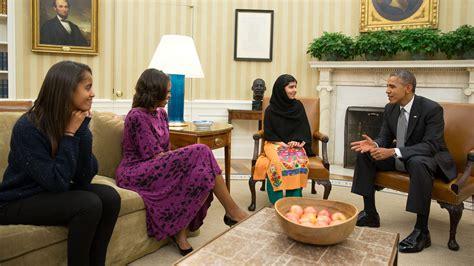 obama s oval office malala confronts obama over drones ktla