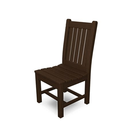 polywood dining chairs polywood rockford dining side chair at diy home center