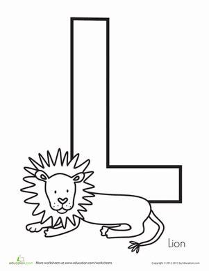 preschool coloring pages letter l l is for lion worksheet education com