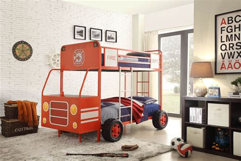 fire truck twin bed engine one red fire truck twin over twin bunk bed from
