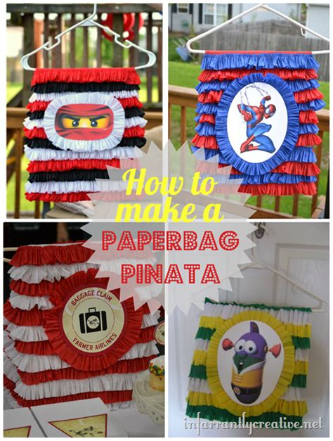 How To Make A Paper Bag Pinata - how to make a pinata