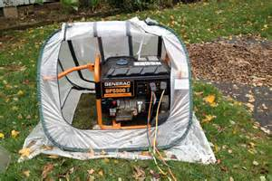 portable in houses how to provide cover for your portable generator during