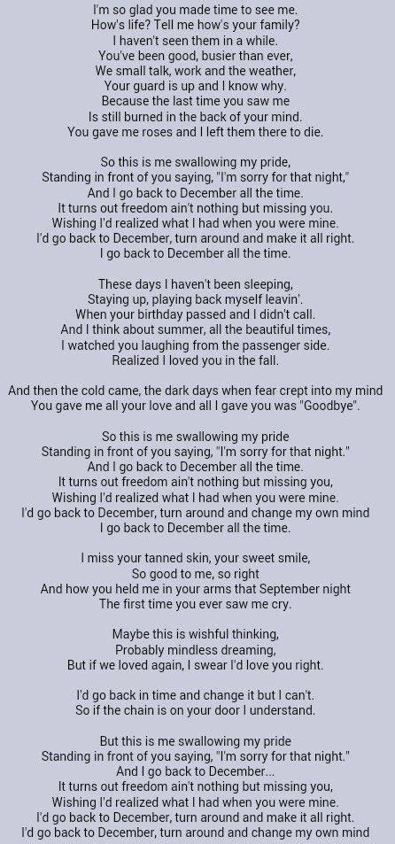 taylor swift back on december as 25 melhores ideias de back to december lyrics no pinterest