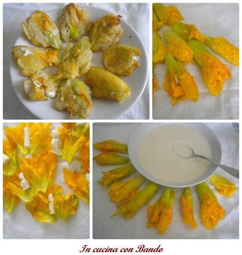 cucina fiori di zucca frittelle di fiori di zucca in cucina con bandoin cucina