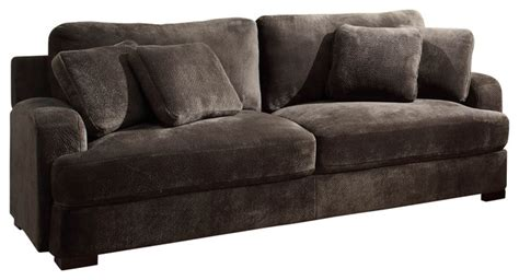 homelegance craine upholstered sofa in grey microfiber