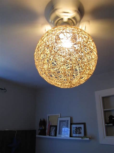 Yarn Light Fixture 11 Diy Yarn Crafts That Add Charm To The House