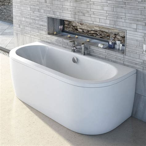 d walls in bathroom cayman d shaped doubled ended back to wall bath