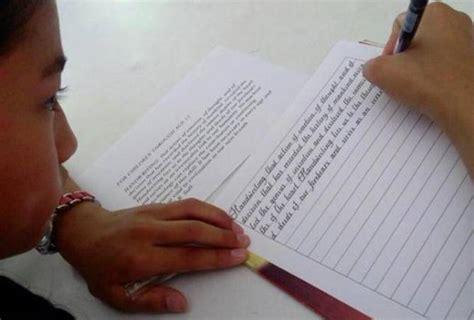 Tulisan Letter Kuningan Bagus Banget tulisan tangan gadis ini terindah dan tercantik di dunia keren abis