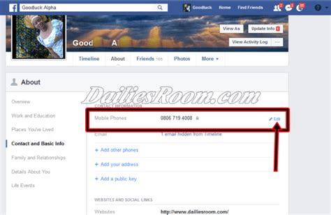 fb data gratis delete or remove facebook primary contact info fb com