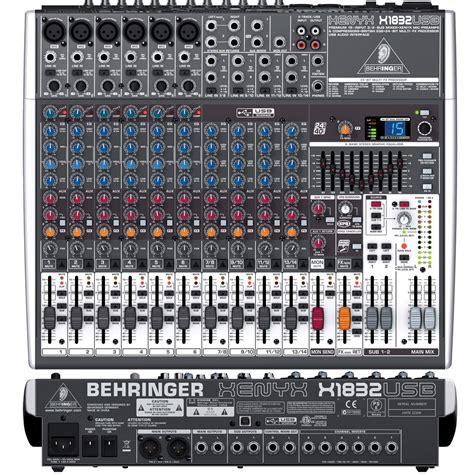 Mixer Audio Behringer 24 Channel behringer xenyx x1832usb 18 channel mixer with usb audio