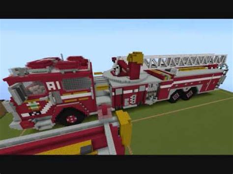 minecraft fire truck minecraft ladder truck a1 75 and how to build a fire truck