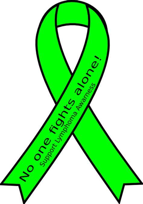 lymphoma ribbon color support lymphoma awarness clip at clker vector