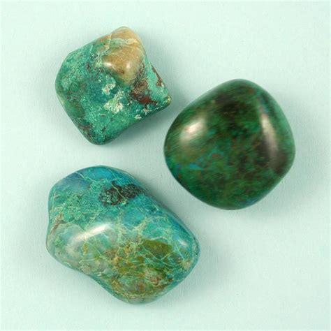 chrysocolla tumbled polished gemstones