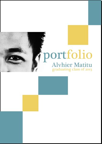 professional portfolio cover page search