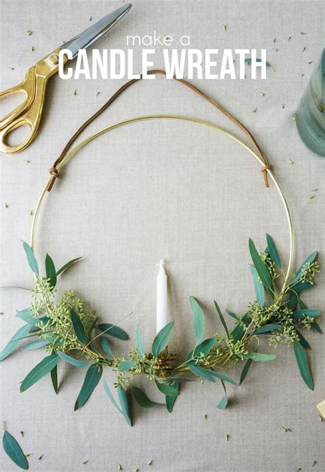 candle wreaths make a eucalyptus candle wreath