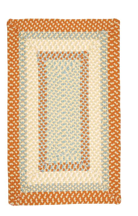 Orange Braided Rug by Braided Colonial Mills Rugs Montego Orange Polypropylene 15530