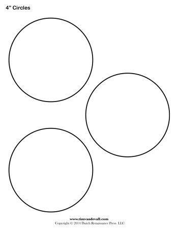 Circle Template 4 Inch Tim S Printables Circle Template Printable