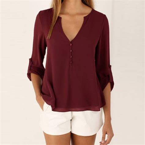 Blouse Maroon popular burgundy blouses buy cheap burgundy blouses lots from china burgundy blouses suppliers