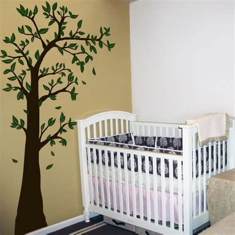 Decals For Nursery Walls Arching Waving Tree With Leaves Wall Decal Sticker Graphic