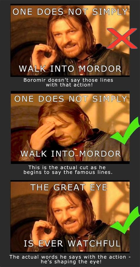 boromir meme one does not simply dump a day