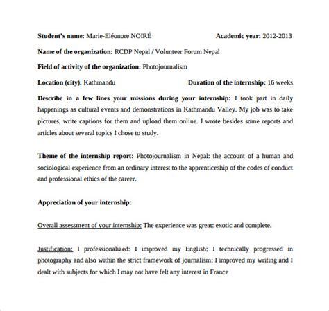 Internship Weekly Report Template Internship Report