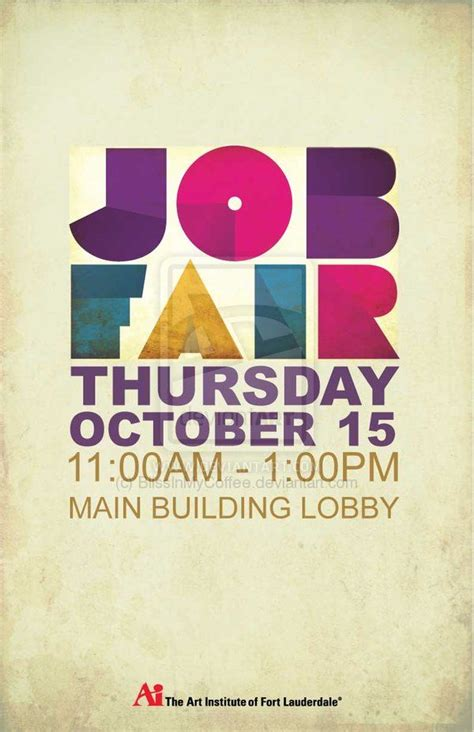 graphic design poster jobs aifl job fair poster by blissinmycoffee deviantart com on
