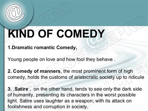 themes in comedy literature introduction to english literature