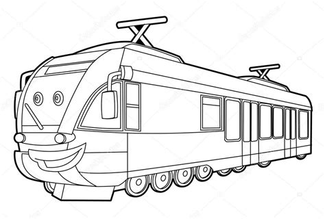 coloring page speed train tramway coloring pages