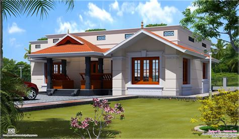 single floor home design kerala building plans