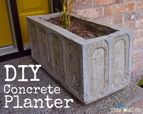 Diy Outdoor Planters by A Diy Concrete Planter It S Easier Than It Looks