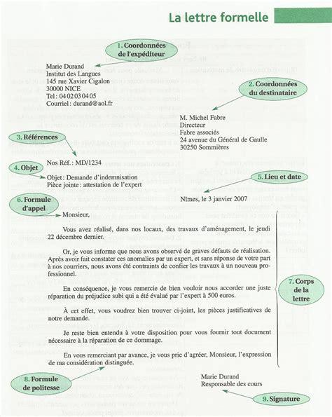 Exemple De Lettre Formelle En Anglais Lettre Formelle Aprendamosfacil
