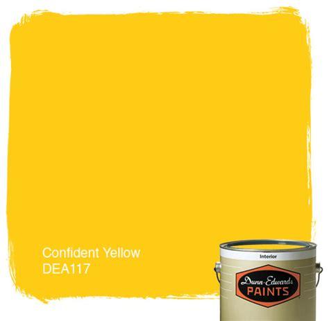 dunn edwards paints confident yellow dea117