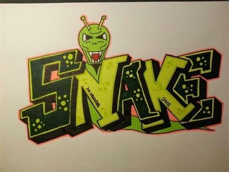 step  step   draw graffiti letters snake youtube