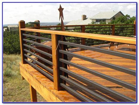 horizontal metal railing horizontal deck railing ideas decks home decorating