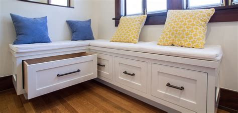 built in storage bench with drawers built in breakfast nook bench design ideas the decoras